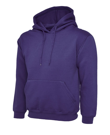 Purple Leavers Hoodies