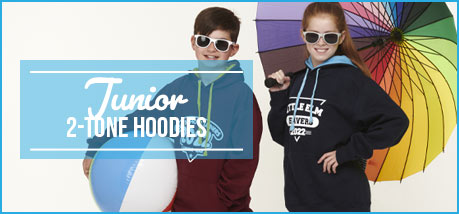 Junior 2 Tone Hoodies